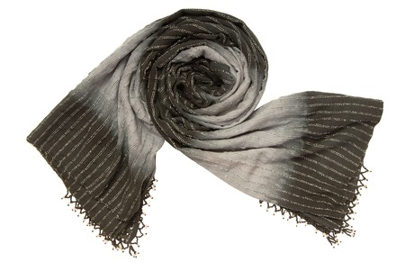 It is a black scarf with beads fringing