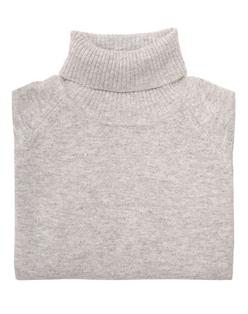 Grey sweater is on white background  photo