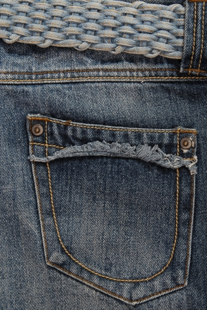 It is a back pocket of jeans  photo