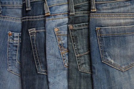 It is a close up of jeans photo