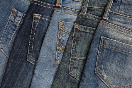 cotton  jeans: It is a pile of jeans