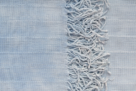 It is a closeup of blue scarf  Stock Photo