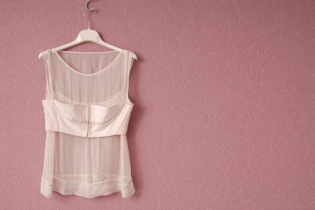 Transperent blouse is on lilac background  photo