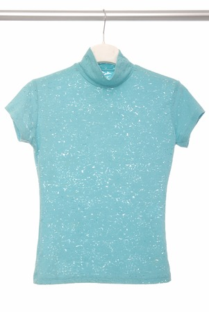 openwork: Open-work blouse are on coat-hangers  Stock Photo