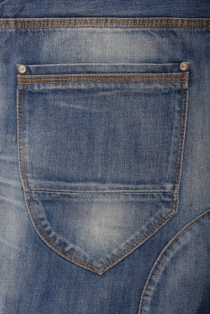 A back pocket is on jeans  Stock Photo