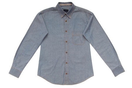 Blue denim shirt photo
