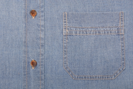 It is a close-up of denim shirt  photo