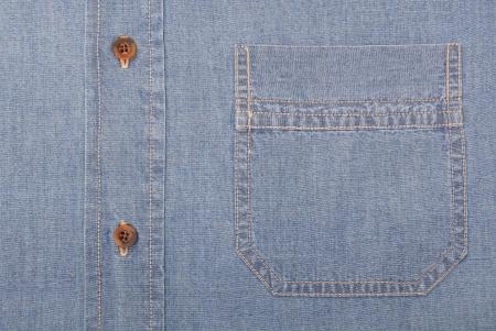 gentleman's: It is a close-up of denim shirt