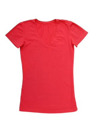 A pink tee-shirt is isolated
