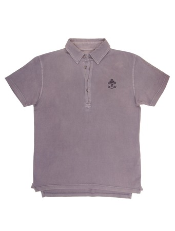 It is a violet tee shirt with anchor  photo