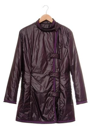 waterproof cape: Violet short coat  Stock Photo