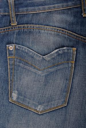 jeanswear: back side of blue jeans