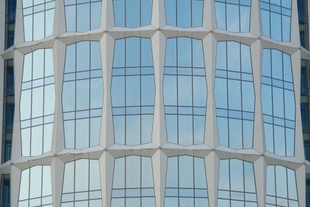 fasade: glass fasade of office building in Moscow Stock Photo