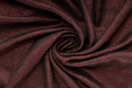 claret: lurex bordeaux  fabric is  draped