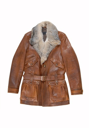 leather male coat photo