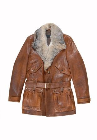 waterproof cape: leather male coat