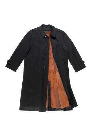 high priced: Classical topcoat has fur lined