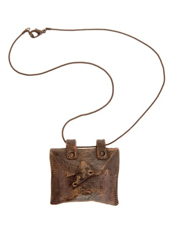 coulomb: vintage brown amulet Stock Photo