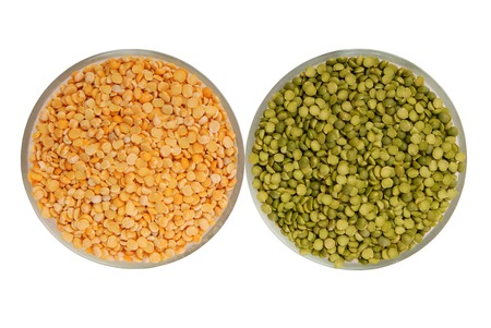 bronzy: raw green pea and yellow pea