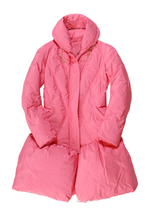 high priced: long pink padded coat