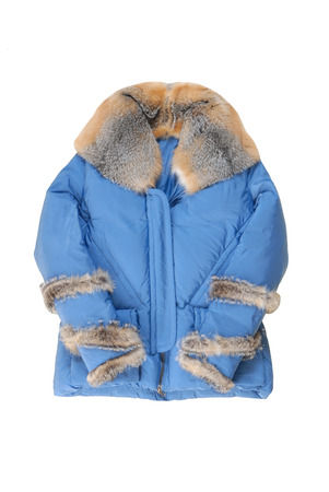 warm things: female padded coat with fur