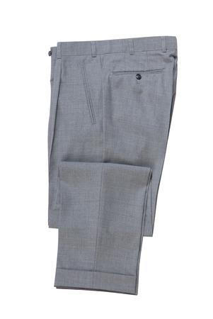 mannen gevouwen grijs klassieke broek. Stockfoto