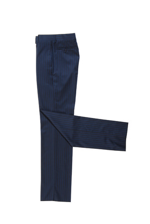 male blue classical trousers Stock Photo