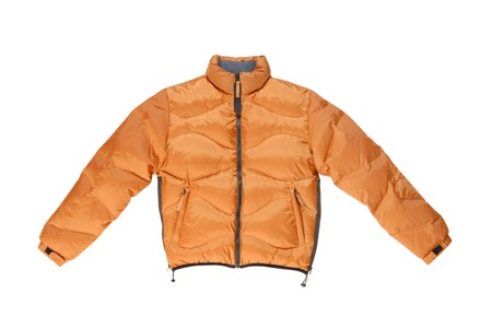 high priced:  padded coat with zip fastener