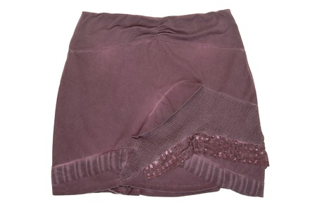 bell bottomed: lilac miniskirt Stock Photo