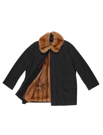 high priced: Male short coat has marshotter lining Stock Photo