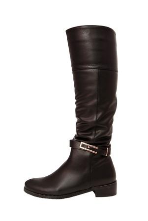 leathern: black leathern jackboot