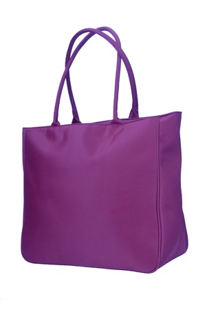 purple big bag on white 免版税图像