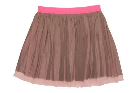 pleated caprone skirt 免版税图像