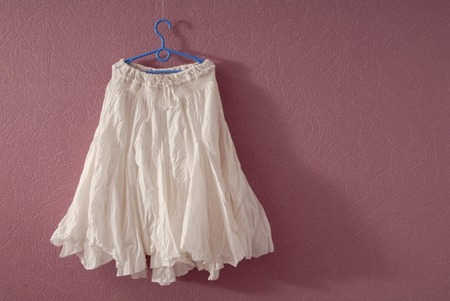 white flared skirt photo