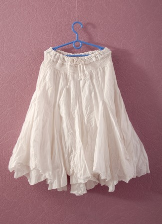 underskirt: white puffy skirt Stock Photo