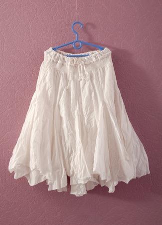 underskirt: white puffy skirt Stock Photo