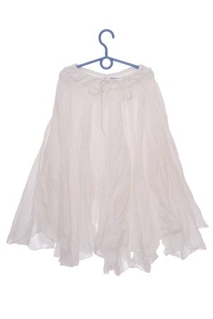 underskirt: white flared skirt