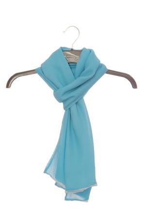 blue silk scarf photo