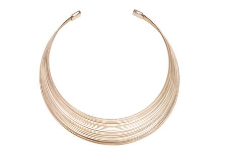 round collar: Metal round necklace