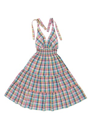 checkered sun-dress photo