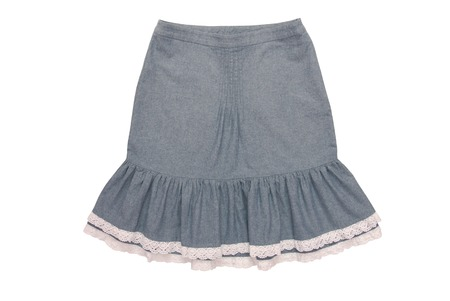 cotton skirt with flounces