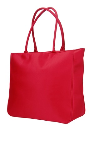 red textile  bag photo