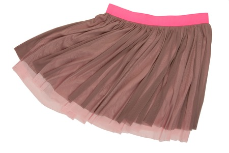 bell bottomed: pleated caprone skirt Stock Photo