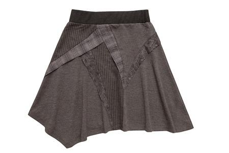 bell bottomed: asymmetric  flared skirt