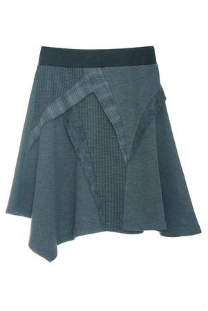 blue asymmetric woolen skirt