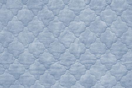 plain stitch: close up of blue bedspread