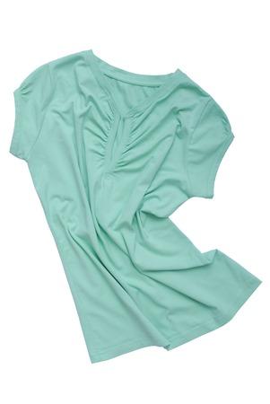 light blue lingerie: drapery female tee-shirt