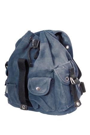 blue jeans: blue denim  rucksack