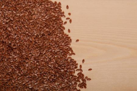 flaxseed: flax-seed on table
