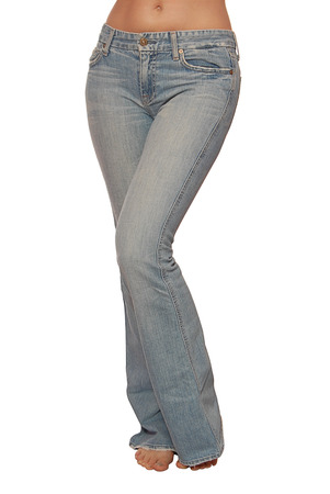 jeans are on female slender figure photo